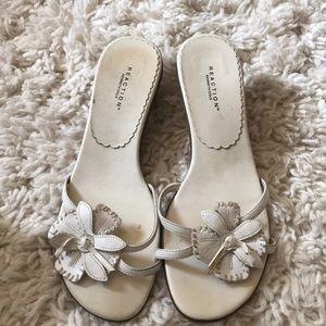 White summer sandals